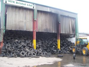 end of life tyres ready for tyre recycling